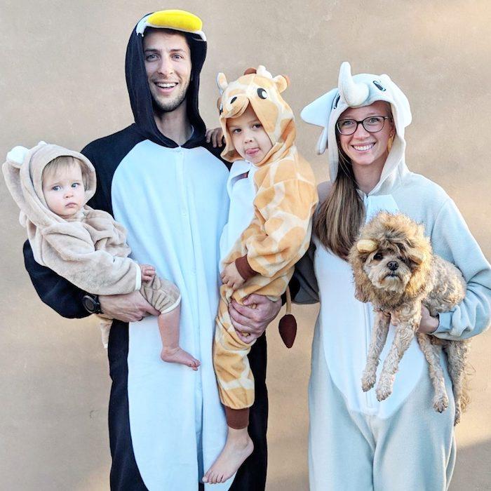 deguisement drole pour la famille comme des animaux licorne giraffe et penguin costumes a commander