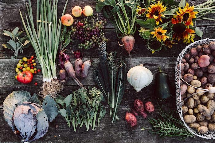 des legumes automnales sians et delicieux navette chou pommes de terre des raisins