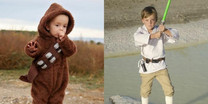 diy costumes star wars personnage année 90 idée déguisement film culte inspiration cheubaka et luke skywalker