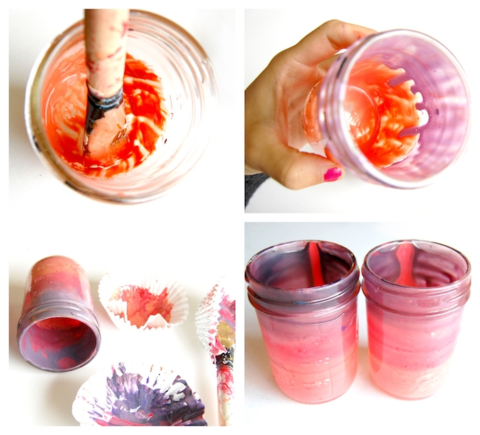 diy pot en verre comment repeindre un pot de peinture transformer en bougeoir halloween original pour les fetes