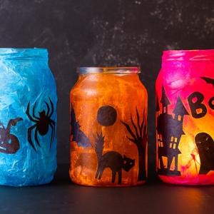 Fabriquer un photophore de Halloween - des bricolages trop faciles pour redouter de s'y lancer