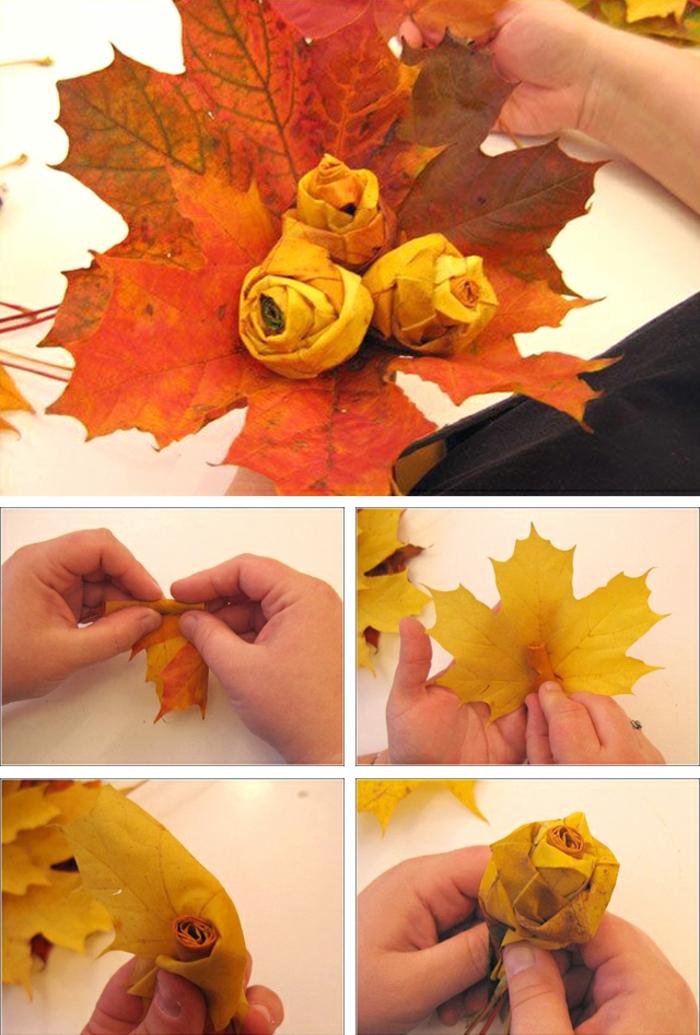 feuilles d automne diy une idée de bouquet deco a faire soi meme recup deco table d automne recup
