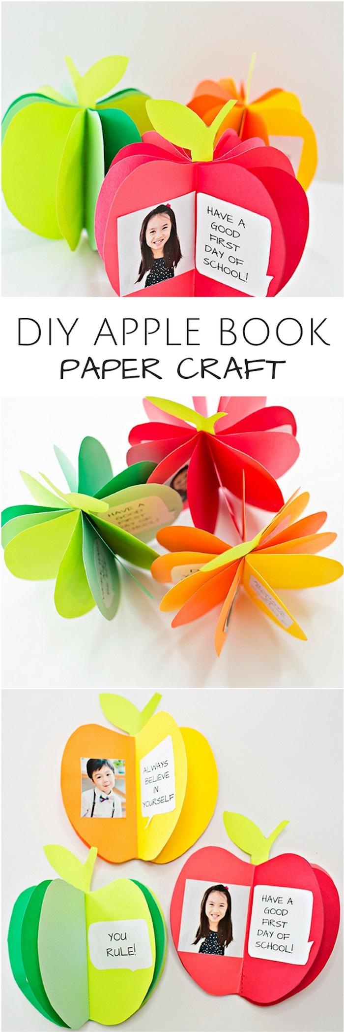 idée de cadeau maitresse diy rentrée comment faire une carte maitresse maternelle activité manuelle facile en papier motif pomme