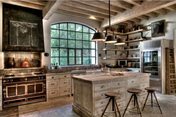 idee bois blanc cuisine bois brut comment décorer bien sa maison style industriel