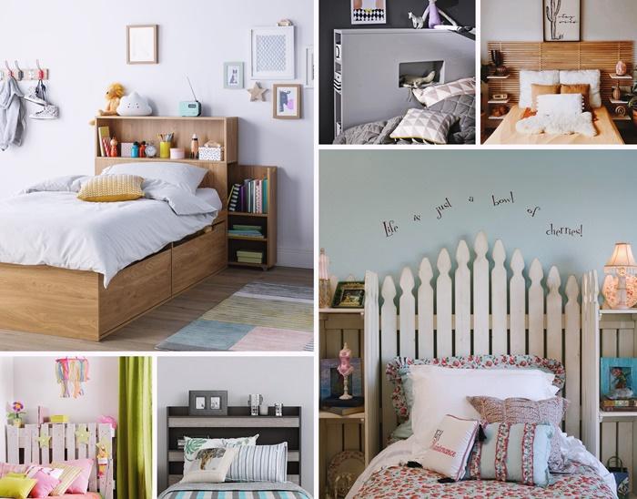 idee tete de lit avec rangement pour chambre enfant diy tete de lit en palette de bois recyclee tete de lit avec meuble de rangement integre