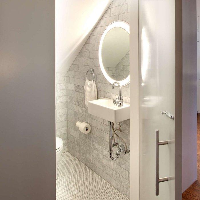 idees amenagement dans la petite salle de bain quel type eclairage utiliser