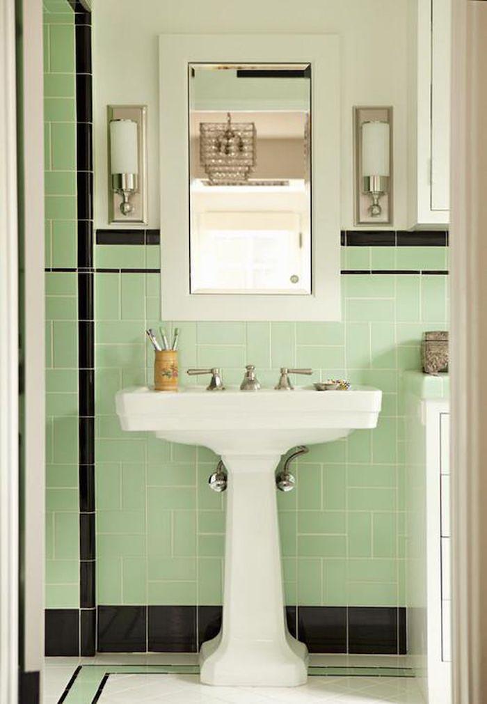 idees de couleurs pour la salle de bain et toilette reseda details en noir