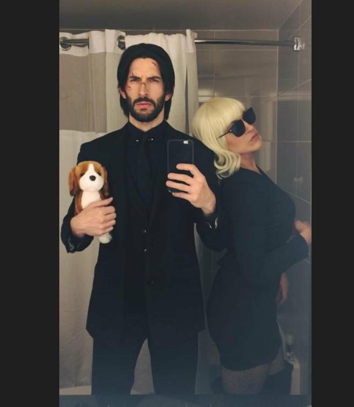 john wick et atomic blonde deguisement couple cinema inspiration tenue soirée thématique