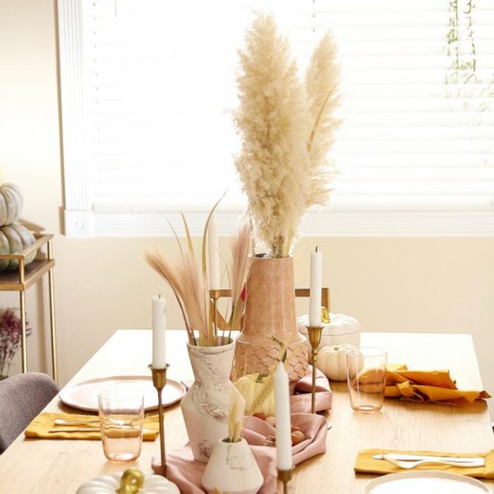 la fin d ete bricolage automne facile activités manuelles automne deco table details dorees