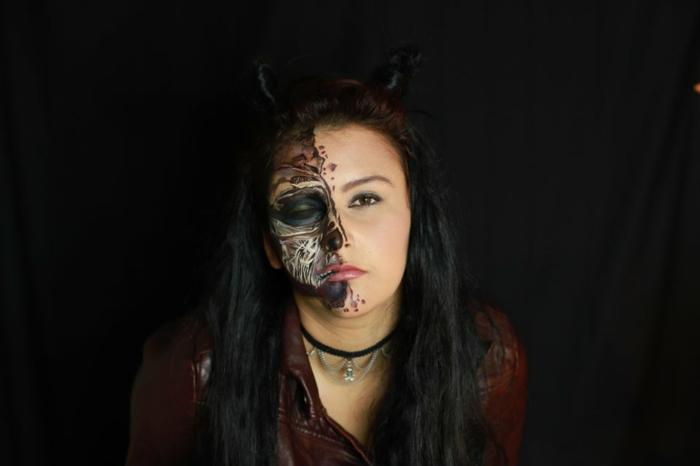 mazekine déguisement sur thème cinéma lucifer serie tele costume pour femme demon