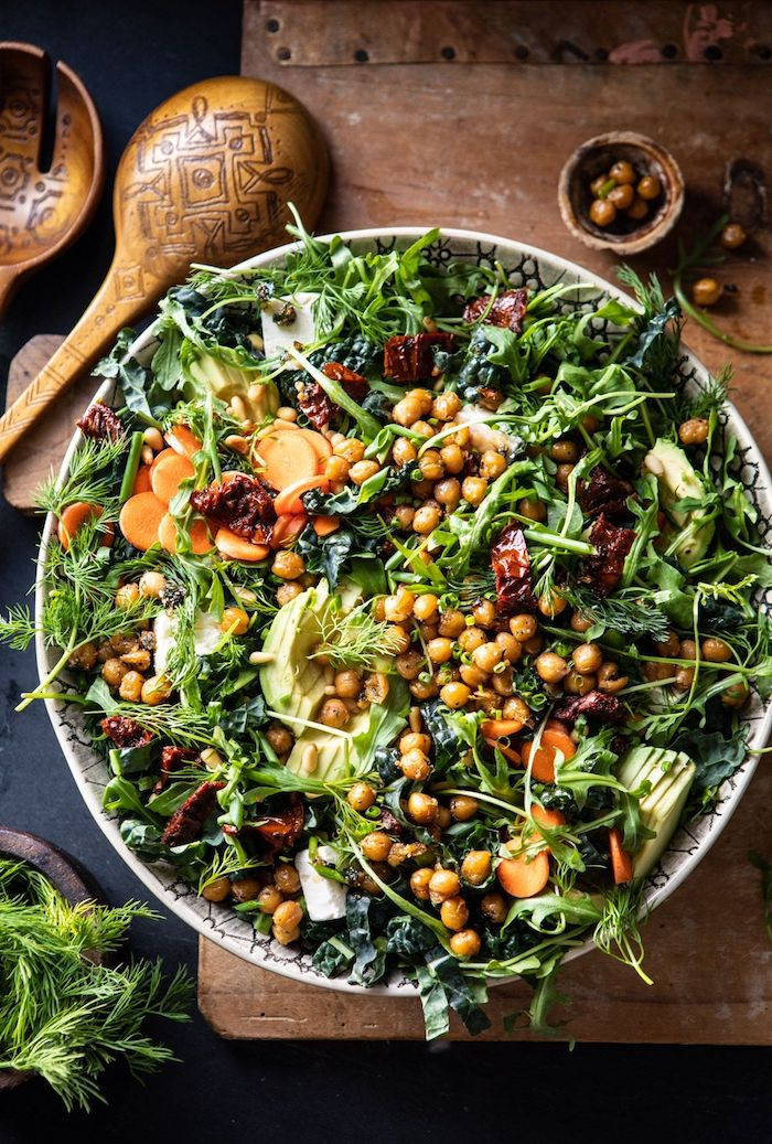 menu d automne gastronomique legumes vertes pois chiche des tomates secs