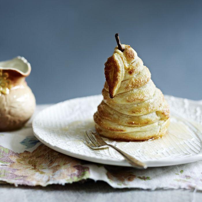 mini tarte poire dans de la pate avec sirop idée de dessert original automne hiver