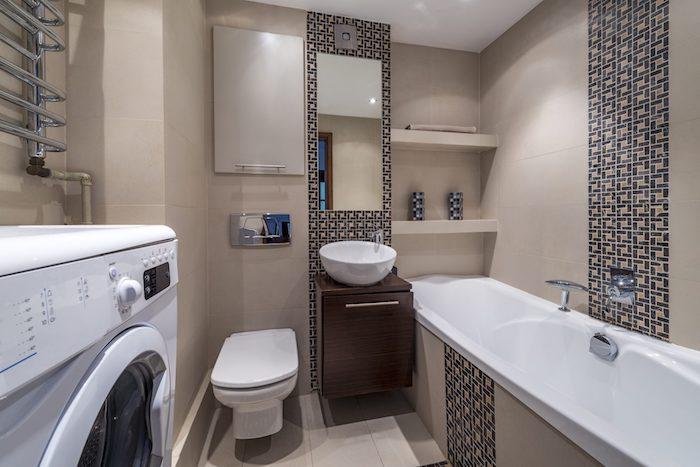 placement de carrelage dans la salle de bains carrelage vertaical machine a laver