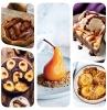 plusieurs idees de dessert aux poires avec des fruits de saison dessert poire chocolat caramel flocons d avoine glace galette maison