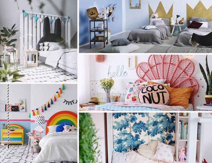 quelle peinture pour une chambre enfant diy tete de lit arc en ciel deco chambre enfant minimaliste murs gris plantes vertes