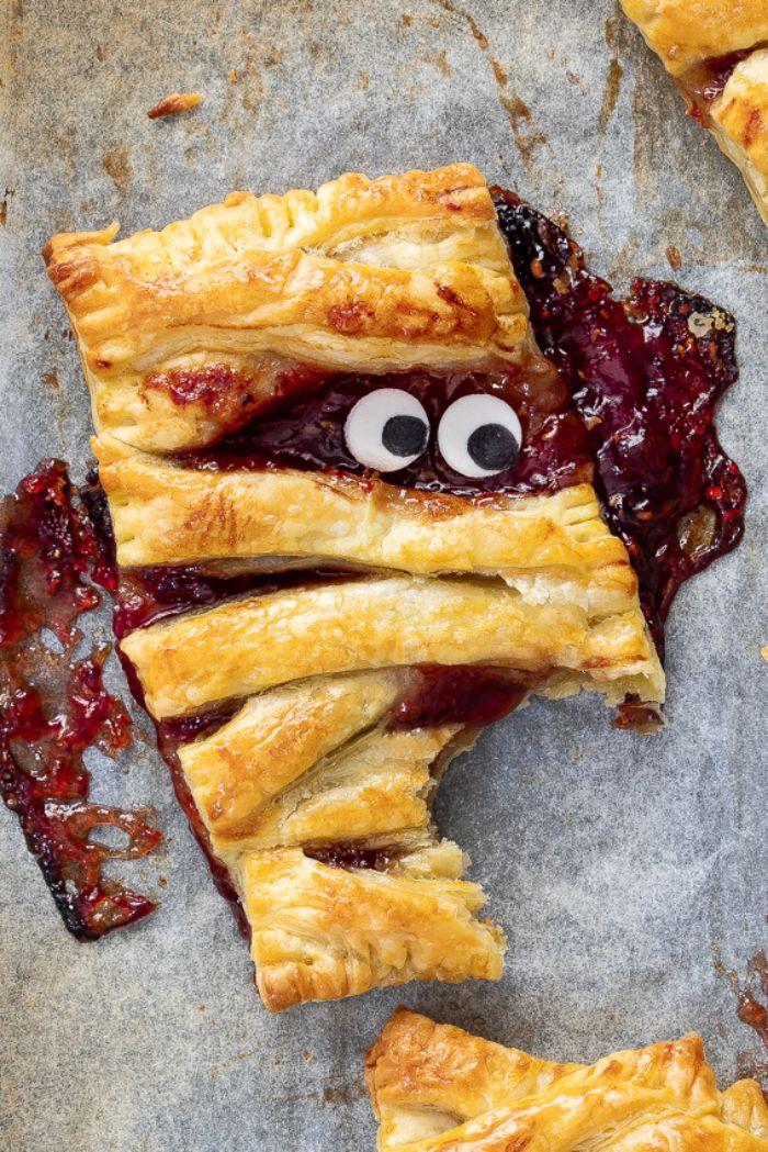 recette tartelettes maison que faire avec pate brisée recette halloween dessert monstre momie