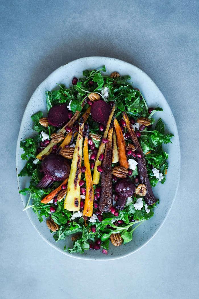 salade d automne chaude salade d hiver des legumes rotis betterave