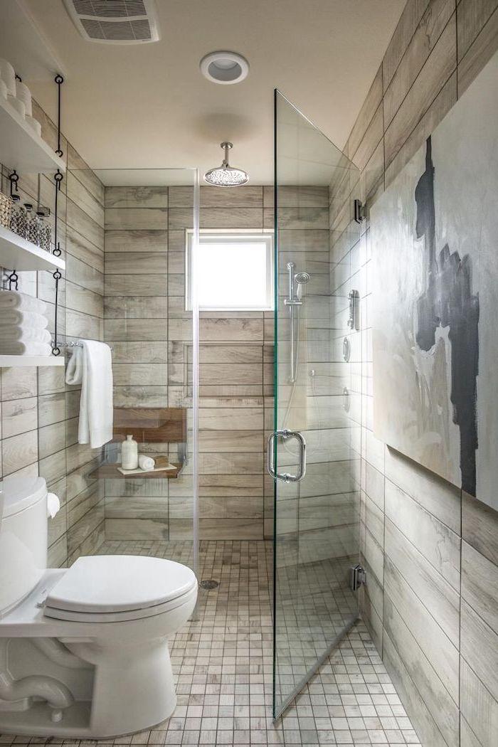 salle de bain avec wc quel type de carrelage de choisir imitation de bois