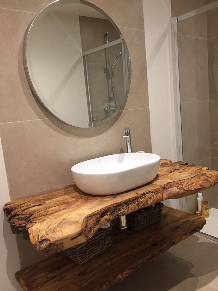 salle de bain commode idee de decoration en bois style rustique