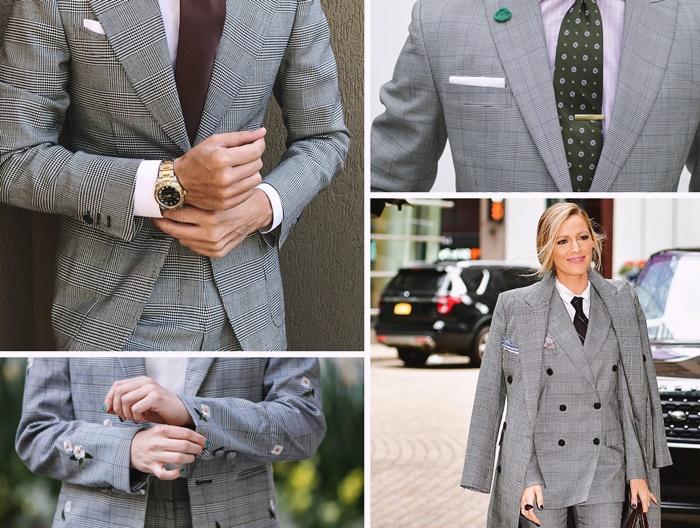 tailleur femme prince de galles imprime costume homme idee comment s habiller pour un mariage homme cravate