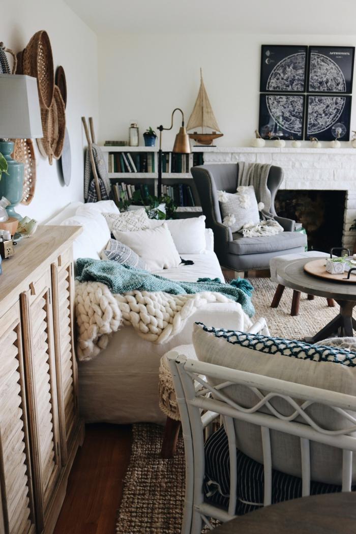 vintage cosy pièce originale deco tapis cocooning deco salon cosy salon chaleureux et accueillant