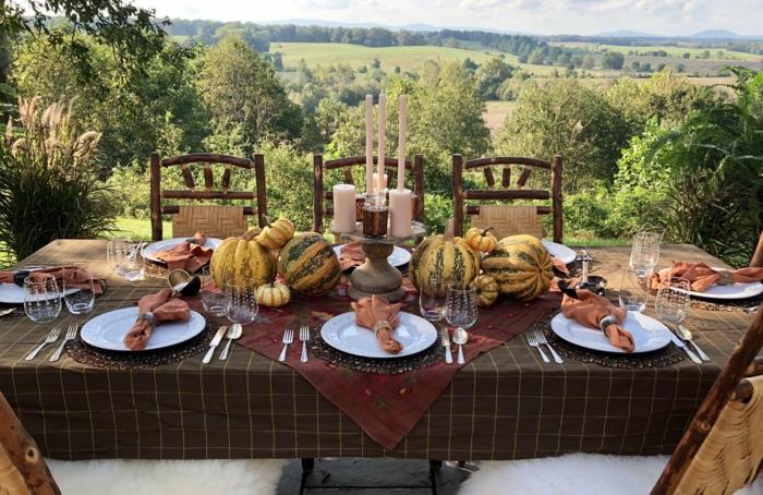 vue champs magnifique idee table decoree tendance deco de table d automne a faire soi meme diy deco mariage au jardin