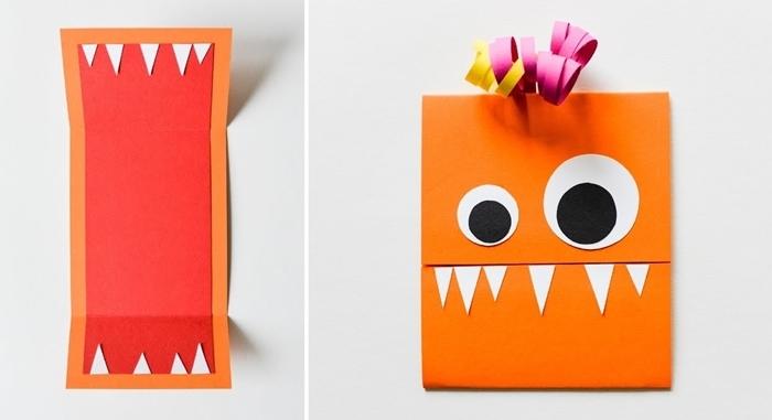 activité manuelle halloween primaire fabriquer carte joyeux halloween facile enfant loisir créatif papier scrapbooking
