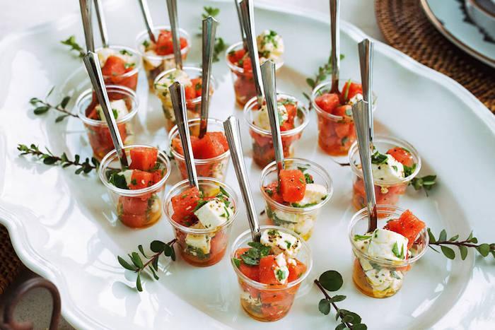 apero leger été salade de pasteque et fromage feta au basilic recette verrine originale