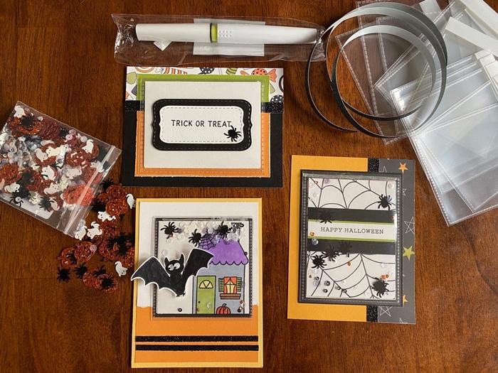 bricolage automne activité manuelle art papier carte d halloween technique scrapbooking fourniture papier chauve souris