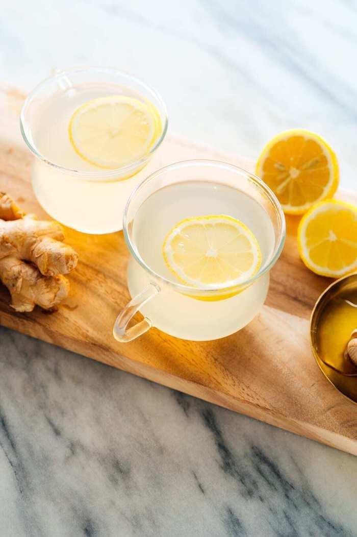 coment faire infusion gingembre citron et curcuma dans une tasse à thé exemple de boisson chaude