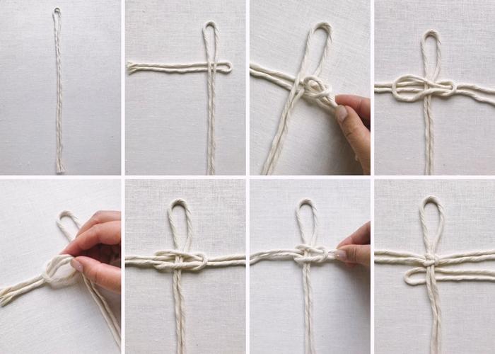 comment faire un noeud macrame plat cordes cotton technique tressage plume macrame facile debutants tuto macrame