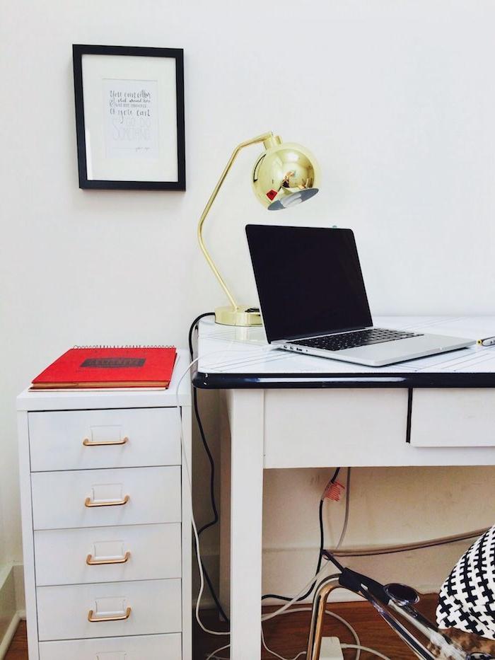 comment peindre un meuble en bois commode ikea helmer dans le bureau avec un lampe d oree