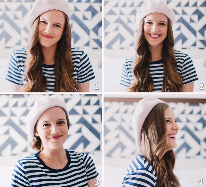 comment porter un beret facons mettre un chapeau look parisien accessoires mode tete couvre chef exemples