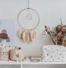 création macramé facile en corde macramé noeud plat cerceau bois attrape rêve matériel activité manuelle déco murale diy