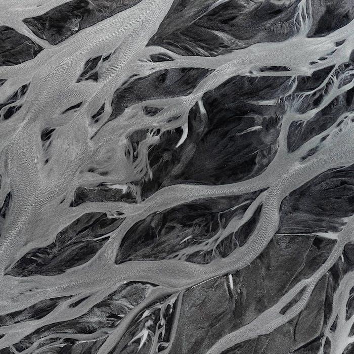 des rivieres seches fodn d ecran esthetique minimaliste en noir et blanc