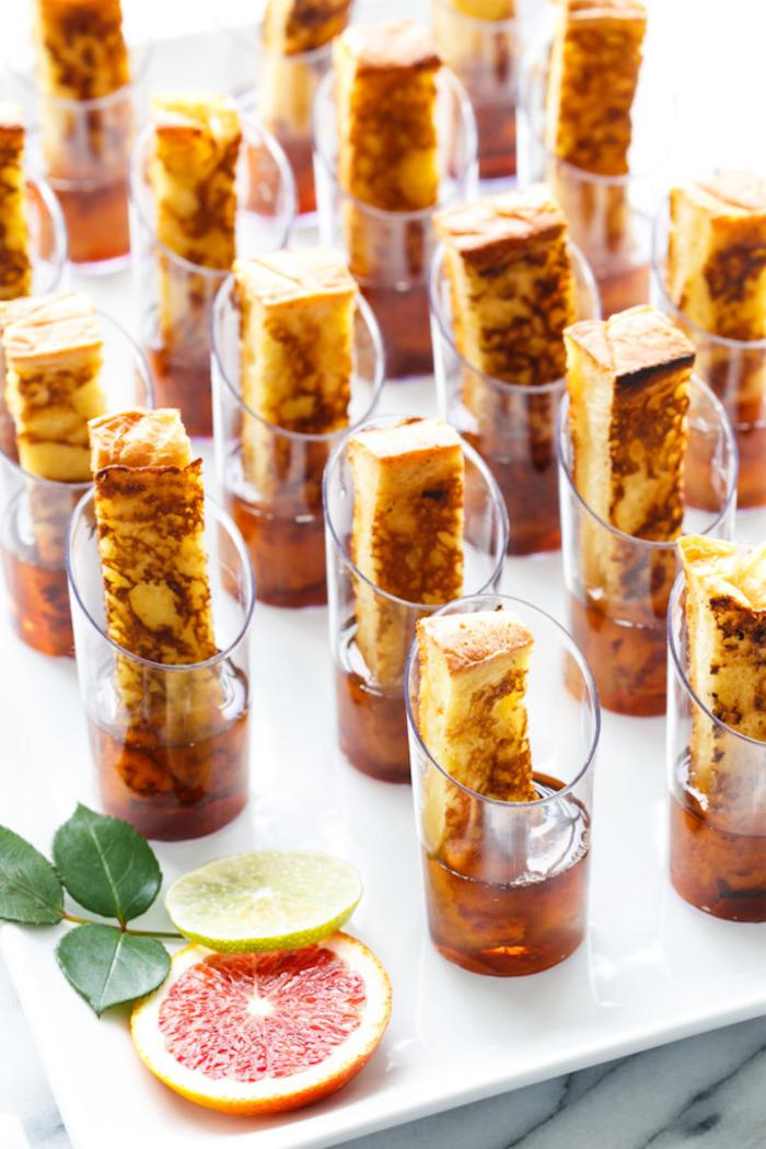 dessert verrine french toast dans sirop d érable idée apéro sucré