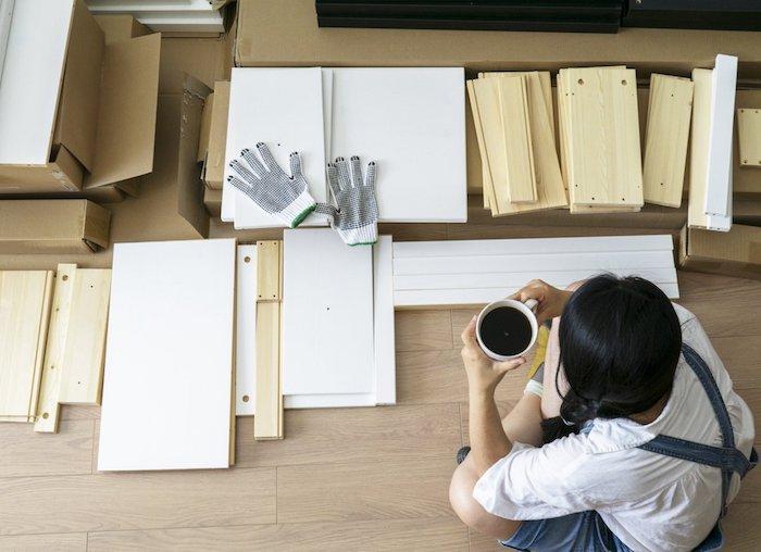 detournement meuble ikea en bois pour une peinture plus facile un meuble demonte
