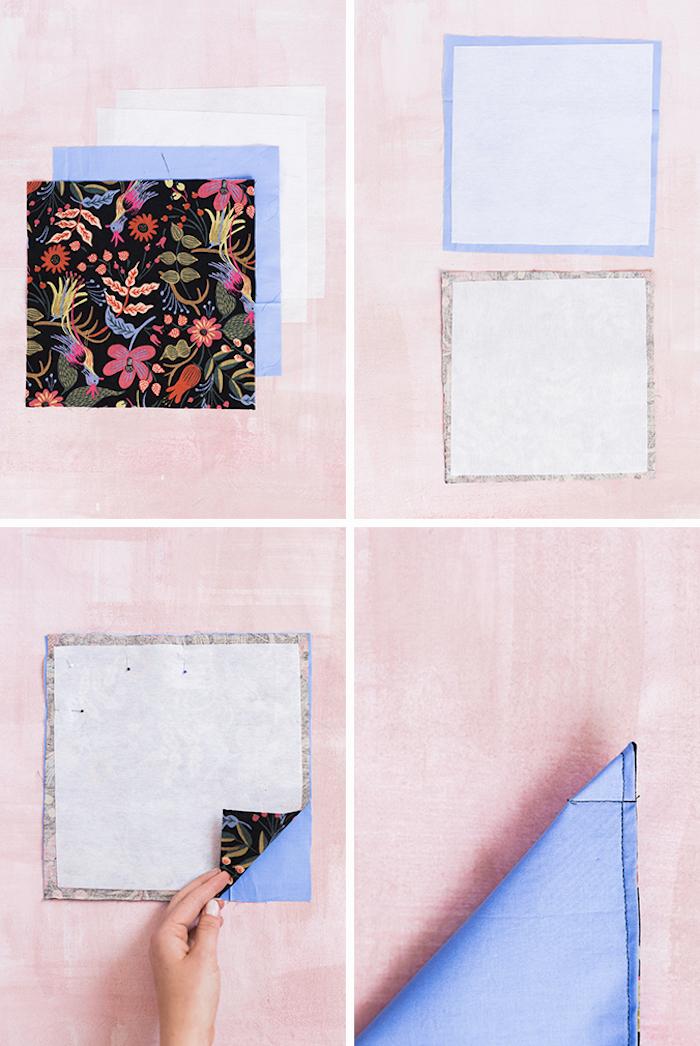 idée couture facile dans des pans de tissu recyclés comment faire panier de tissu simple soi meme
