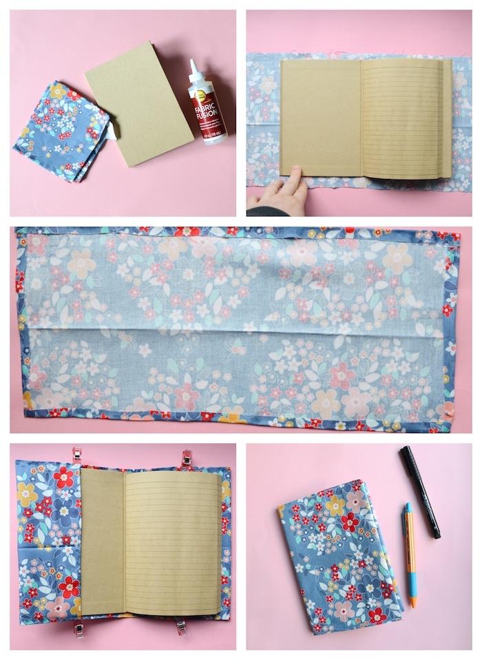idée couture facile et rapide sans coudre idée couverture tissu à imprimé fleuri
