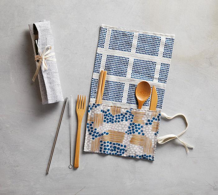 idée couture facile pochette rangement cuisine cuillères exemple diy cuisine