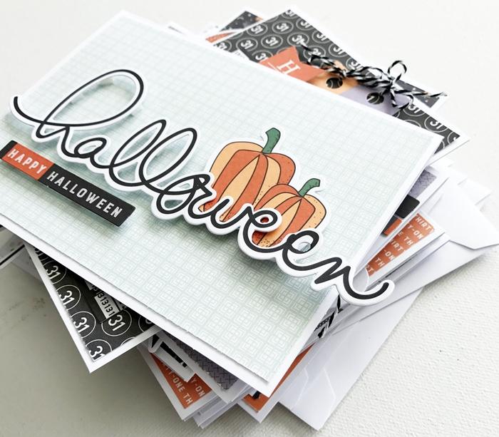 joyeux halloween carte maison dessin citrouille bricolage halloween facile papier cartonné art pliage papier scrapbooking