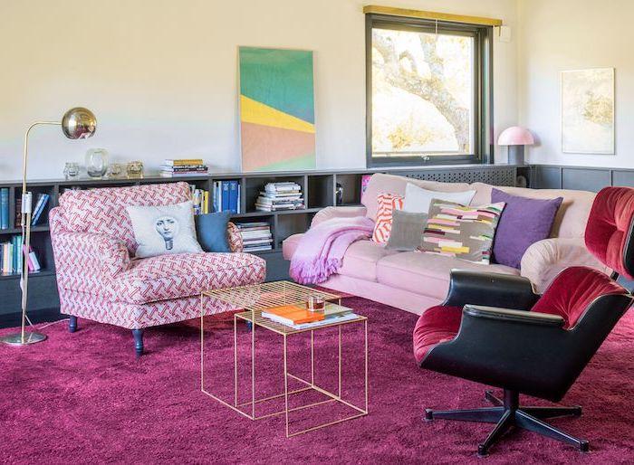 meuble besta ikea customiser votre salle de sejour un tapis mousse rose des grands lampions coussins multicolores