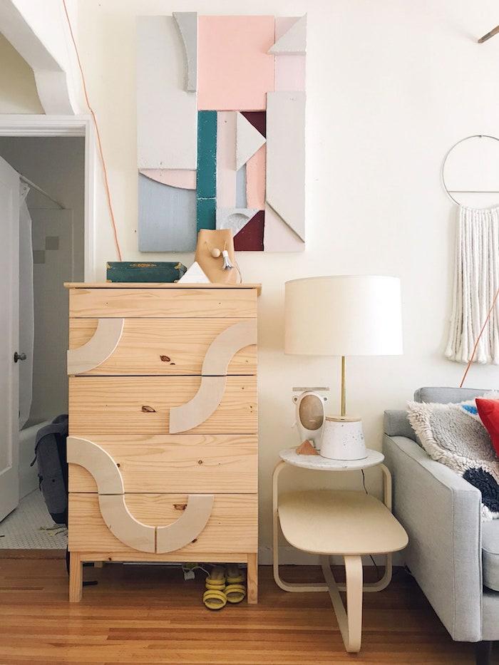 meuble ikea salon coffre en bosi customise amenagement dans la salle de sejour