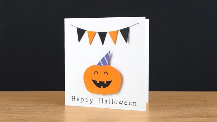 papier cartonné blanc citrouille en feuille orange activité manuelle halloween primaire mini guirlande papier scrapbooking