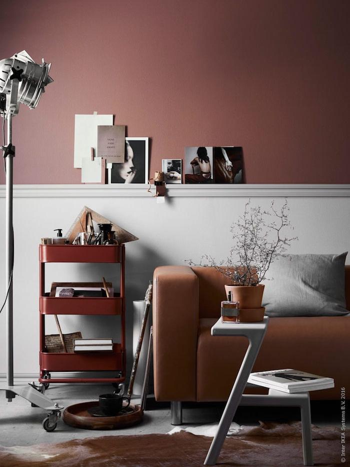 peindre un meuble ikea trolley idee d arrangement de la salle de sejour en couleur toffee