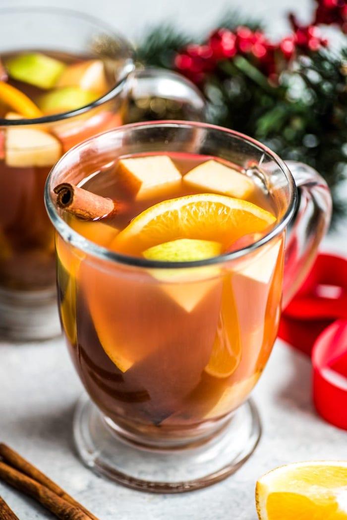 punch mexicain chaud boisson noel mexicaine aux fruits agrumes et épices variés de saison