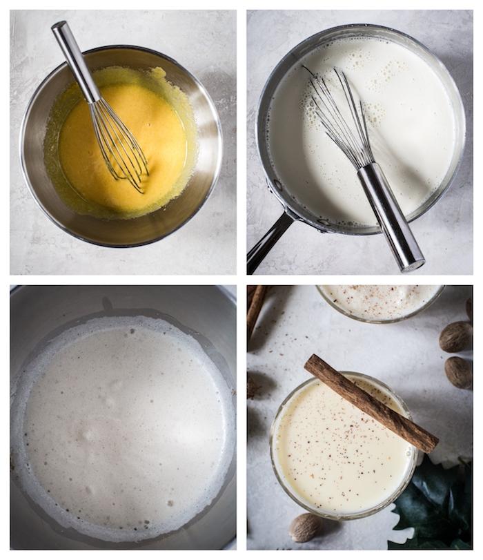 recette lait de poule à base de lait blanc et jaunes d oeuf vanille noix de muscade