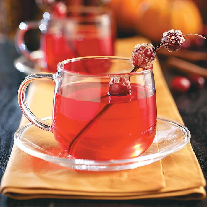recette thé de canneberge idée recette de saison d hiver thé rouge maison