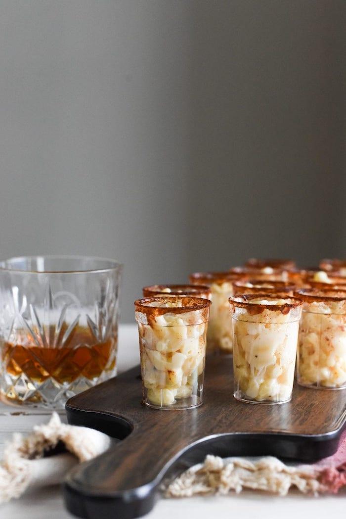 recette verrine apero pâtes gratinées macaroni au fromage recette facile et originale