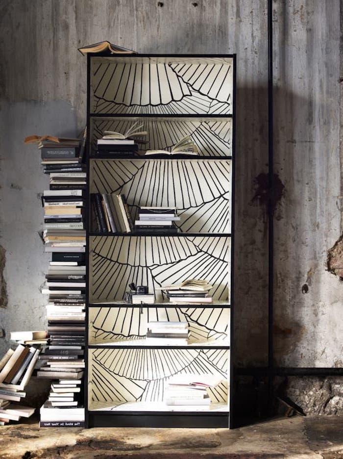 relooker une bibliotheaque personnaliser un meuble ikea comment retapisser un amas de livres